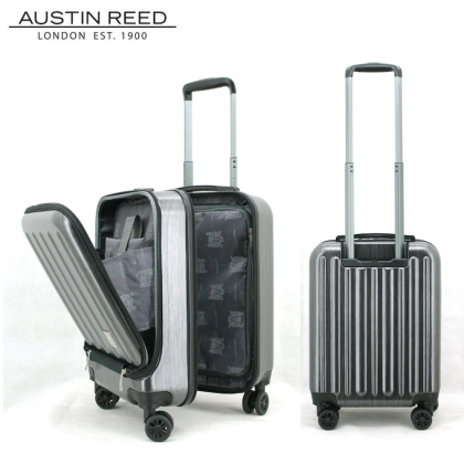 Austin Reed Luggage PC 18+21 inch Bundle Set (Black/ Blue)