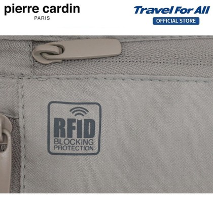 PIERRE CARDIN Security Neck Pouch With Anti-Theft RFID Blocking
