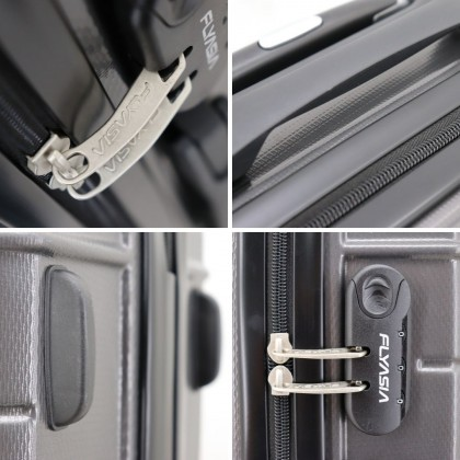 FLYASIA Luggage Combo Set (Size 20 inch +28 inch, Dark Grey) with free mystery gift
