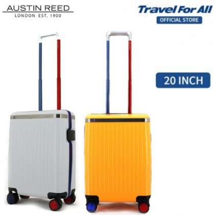 Austin Reed Makrolon Polycarbonate TSA PC Cabin Hand Carry Luggage 20 inch (White/Yellow)