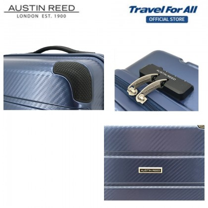 Austin Reed 5-in-1 Combo Set With 20 inch + 24 inch Luggage + 3 pcs Free Gift (Red)