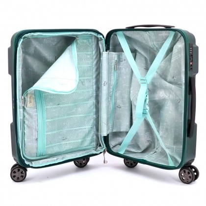 CAMEL ACTIVE 8 Wheels ABS PC Cabin Luggage - Green