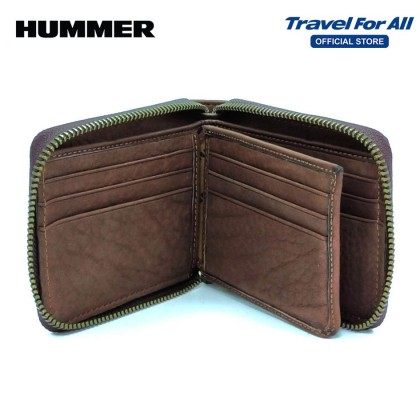 HUMMER LEATHER WALLET WITH ZIP (2 COLORS)
